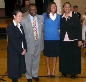 (The sister missionaries who shared the gospel of Jesus Christ with me, and my daddy-o)